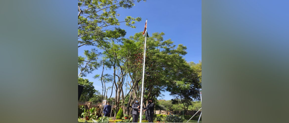 Unfurling of the flag by High Commissioner Dr. Virander Paul on the occasion of 72nd Republic Day of India
