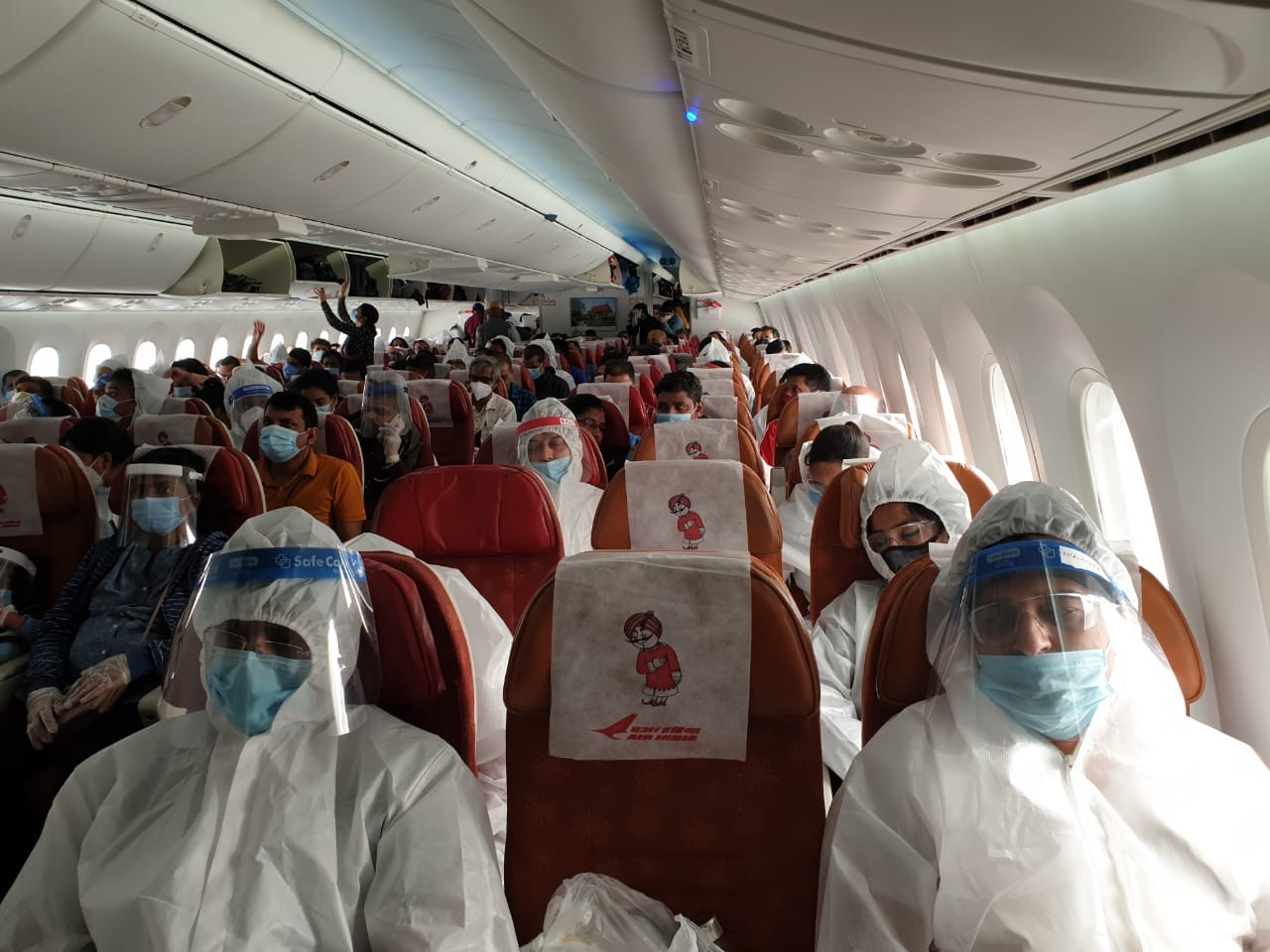 230 passengers from various states of India on-board Air India Vande Bharat Mission repatriation flight to Delhi-Mumbai-Hyderabad-Chennai-Kochi