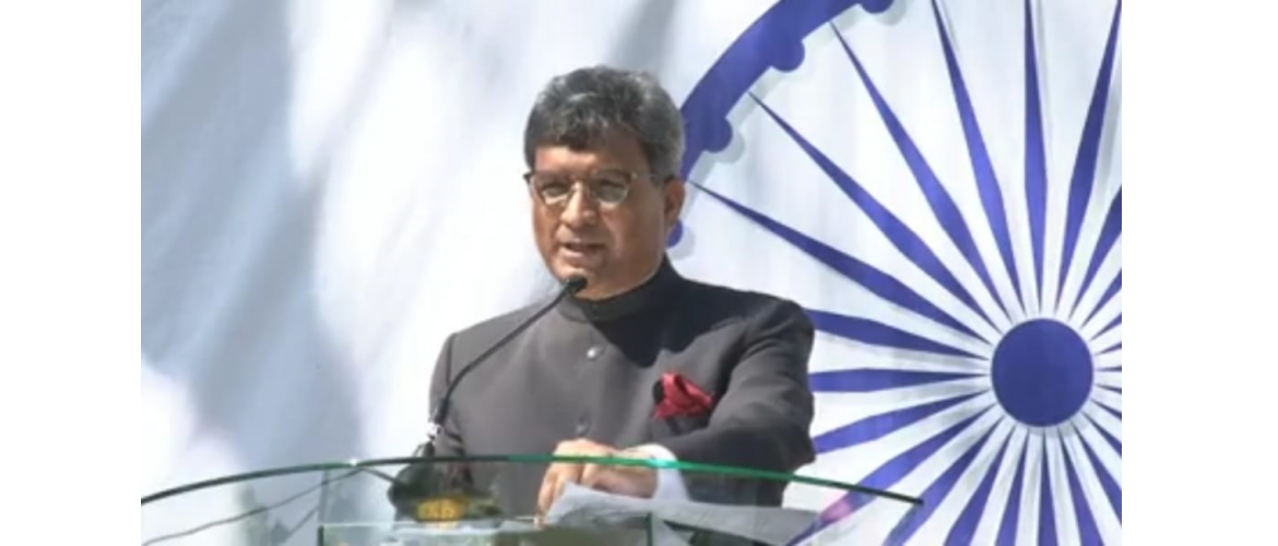 High Commissioner Dr. Virander Paul addressing the Indian Community and friends of India in Kenya during the celebrations of 72nd Republic Day of India 26 January 2021