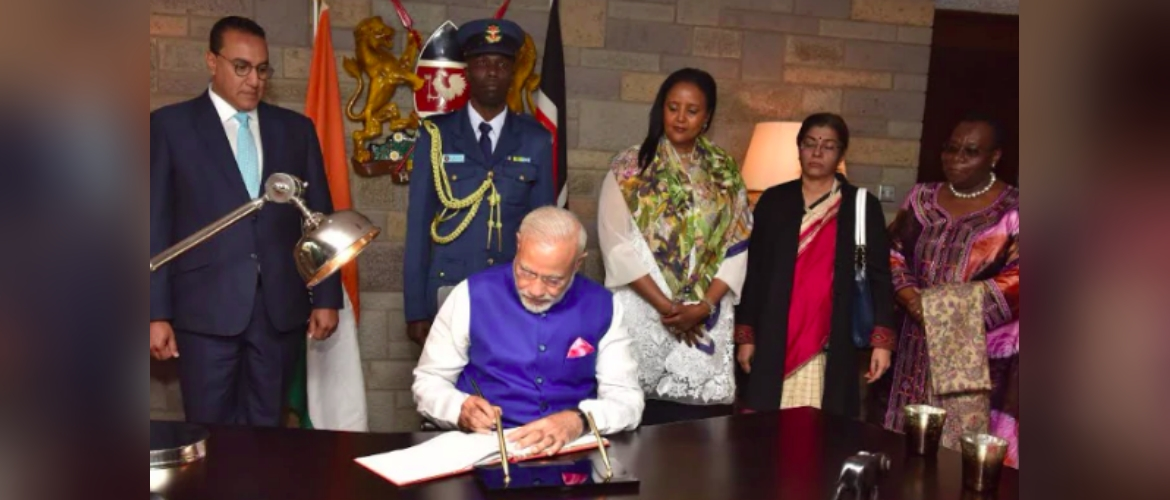 Hon'bel Prime Minister of India H.E. Mr. Narendra Modi visited the United Nations office in Nairobi during his state visit to Kenya in July 2016.
