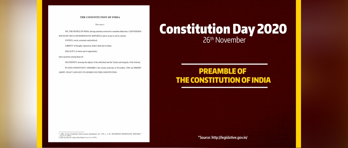 Constitution Day 2020 on 26th November